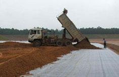 Геотекстиль при строительстве дороги